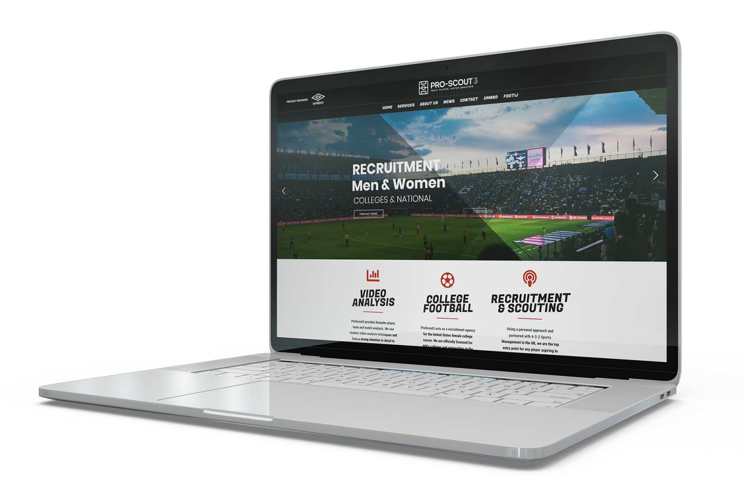proscout3 laptop mockup